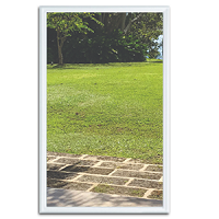 Universal 20 x 36 - 1 Lite Hurricane Impact Low E Glass & White Frame