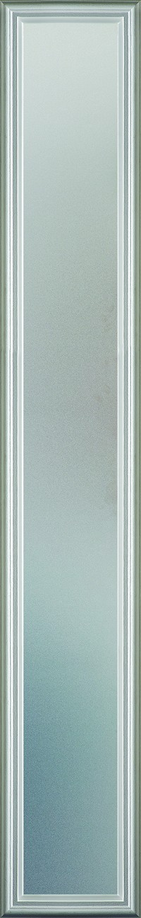Universal 7 x 64 - 1 Lite Satin Etched Glass & White Frame