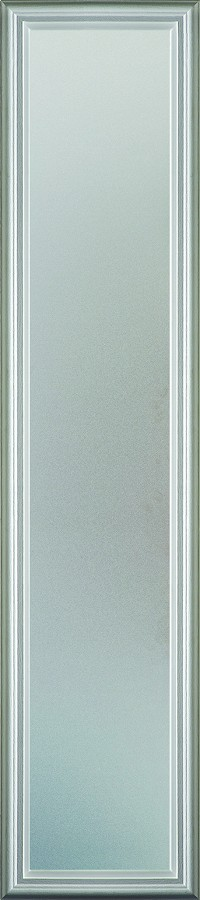 Universal 8 x 48 - 1 Lite Satin Etched Glass & White Frame