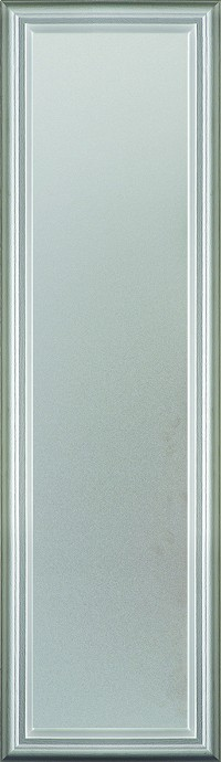 Universal 8 x 36 - 1 Lite Satin Etched Glass & White Frame