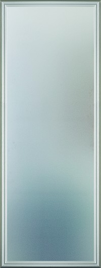 Universal 20 x 64 - 1 Lite Satin Etched Glass & White Frame