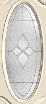 Therma-Tru Concorde 16 x 40 Oval Glass and Frame