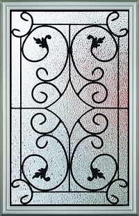 RSL Wisteria 22 x 36 Glass and Frame